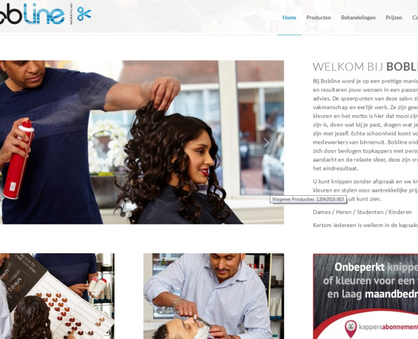 WordPress - Kapsalon Bobline -