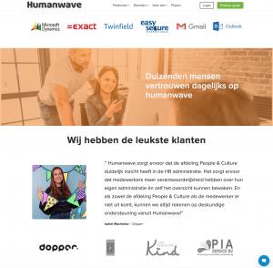 Zoek de verschillen - Rebranding Humanwave - rebranding