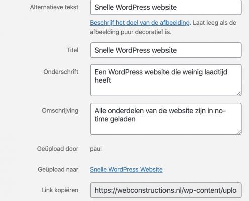 Een vindbare WordPress website door meta informatie bij foto's