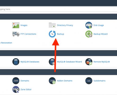 Gehackte WordPress website repareren - Backup maken