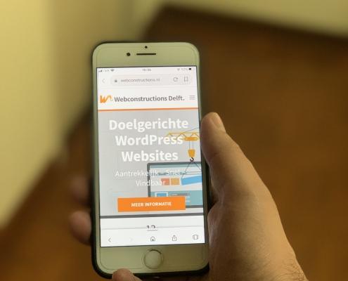 Gebruiksvriendelijke Mobiele WordPress website