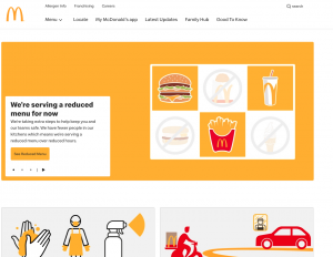Internationale WordPress website - McDonalds Engeland