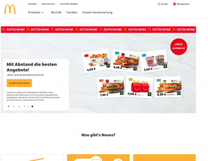 Internationale WordPress website - McDonalds Duitsland
