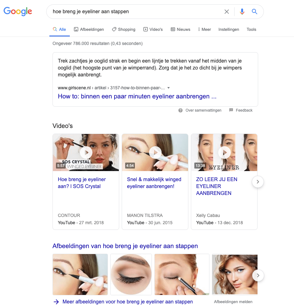 featured snippet - gecombineerde featured snippet