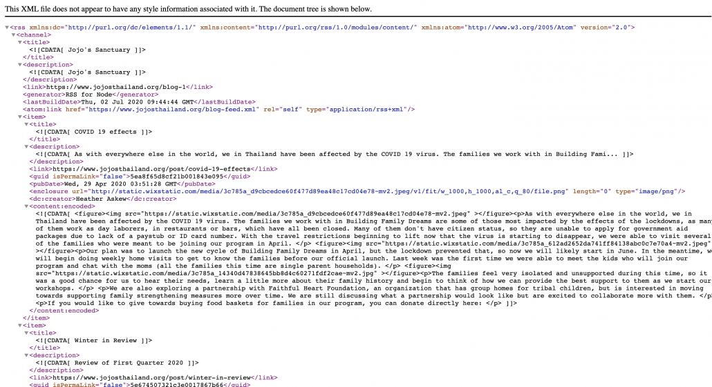 Wix nieuwsberichten importeren in WordPress - XML