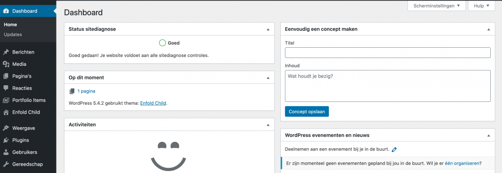 WordPress rollen - beheerder