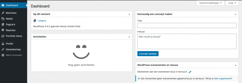 WordPress rollen - redacteur