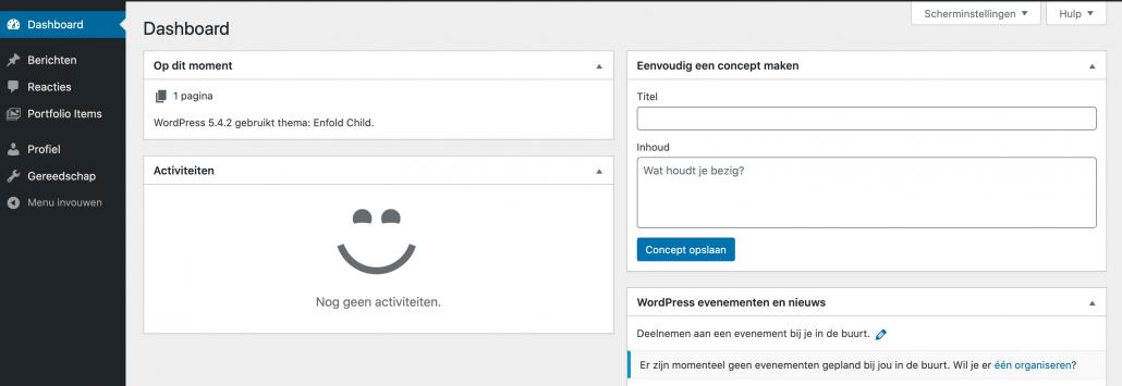 WordPress rollen - schrijver