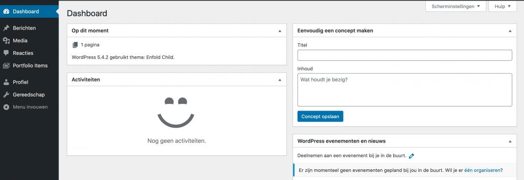 WordPress rollen - auteur