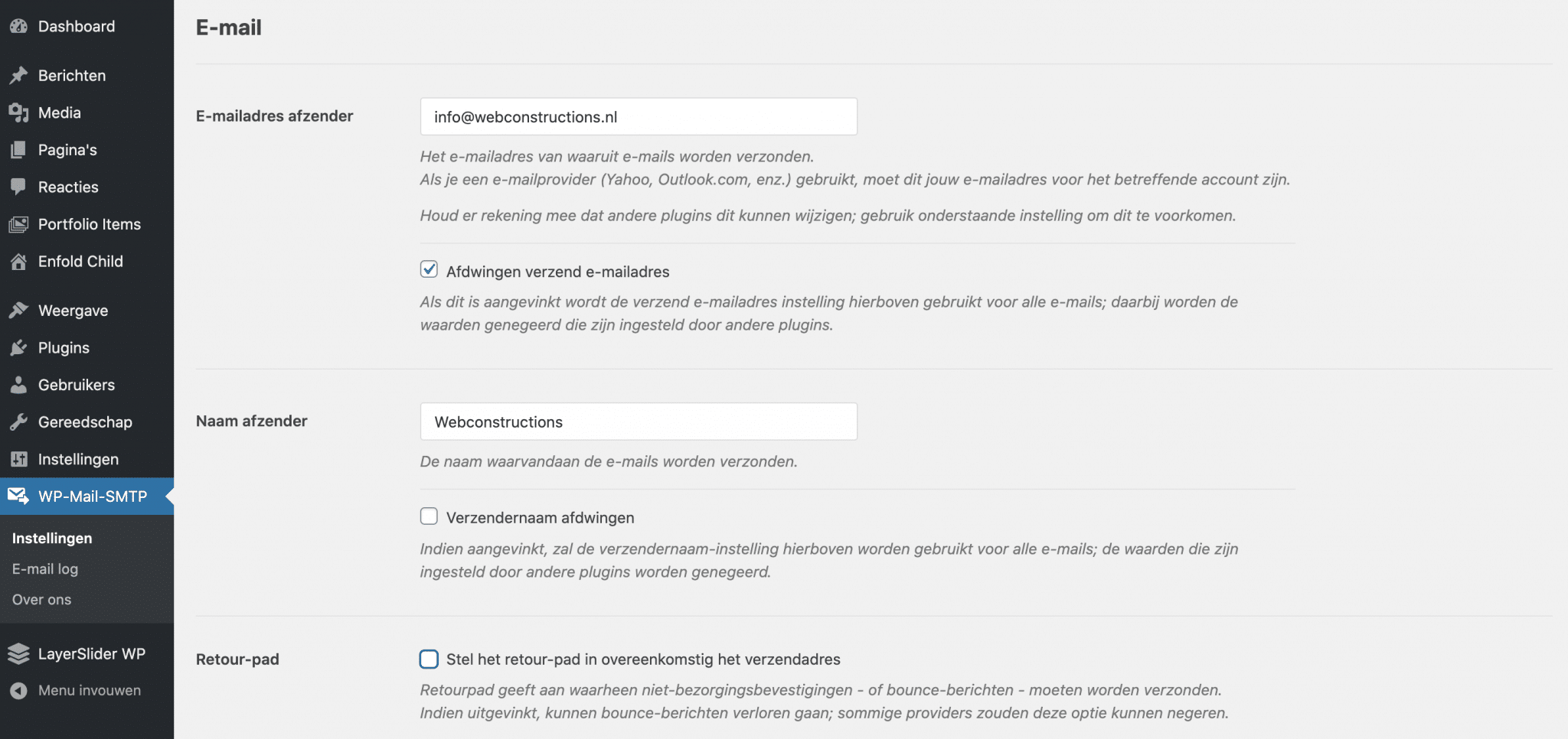 WordPress mailproblemen - Instellen WP Mail SMTP