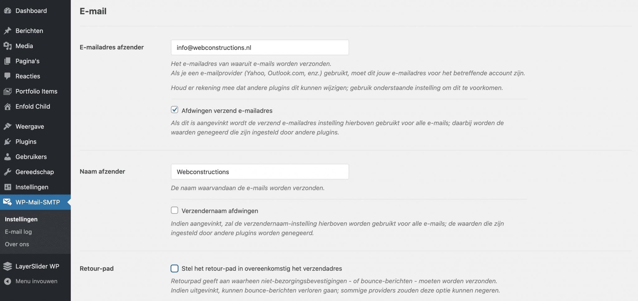 WordPress mailproblemen - Instellen WP Mail SMTP