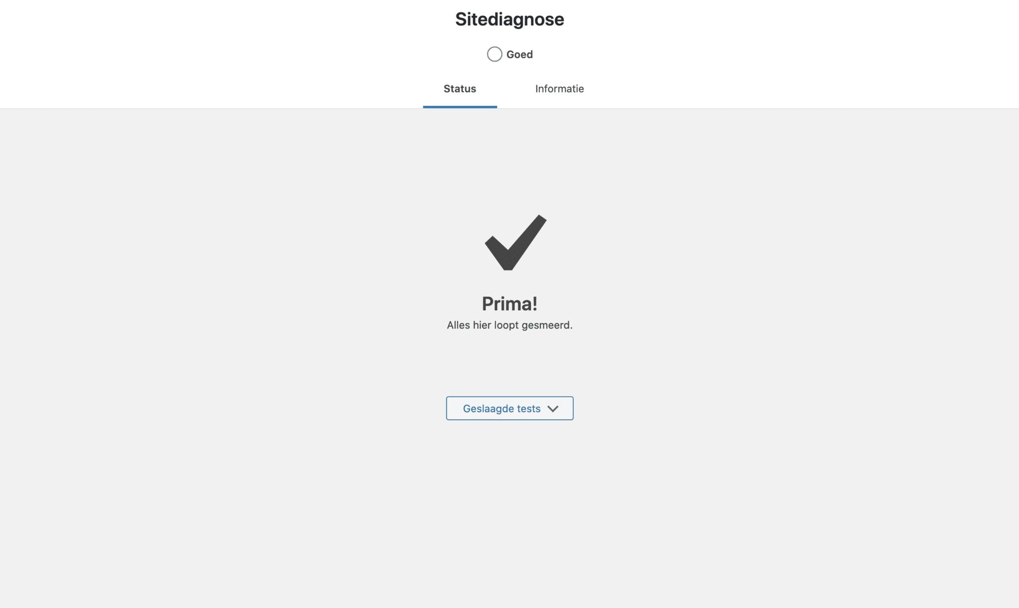 Perfecte WordPress site diagnose